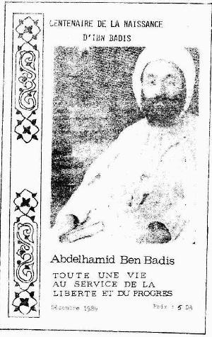 Avril 1970-Trentième anniversaire de la mort de Cheikh Abdelhamid Benbadis: Initiative du PAGS à l'origine...
