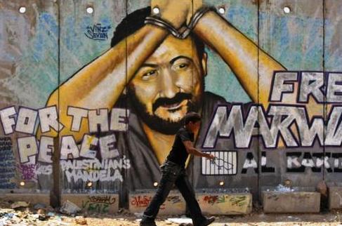 En Palestine, nombreuses sont les peintures au mur représentant Marwan Barghouti.