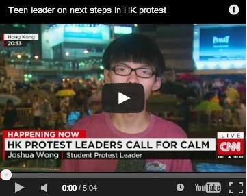 Joshua Wong: Teen leader on next steps in HK protest | CNN |